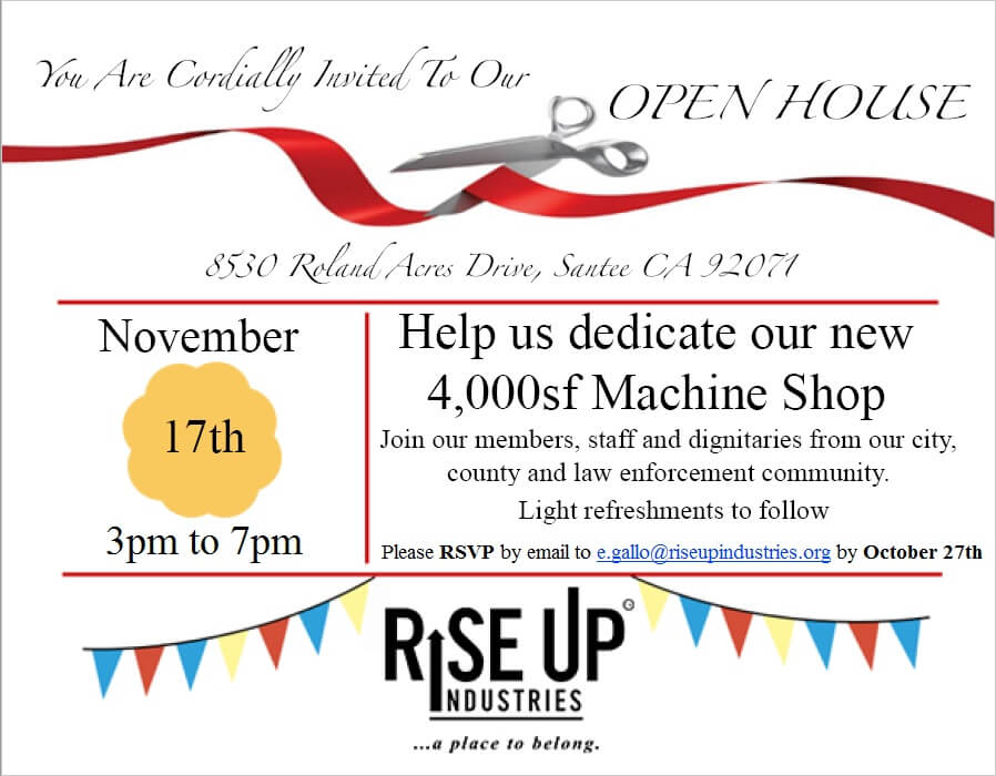 Rise Up Industries Open House Dedication Community Law Enforcement